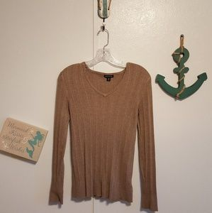 $5/$25 ⛱ George vneck brown sweater tunic, sz Med